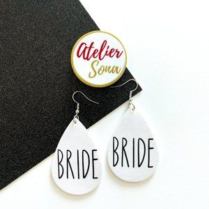 Bride Tear Drop Earrings